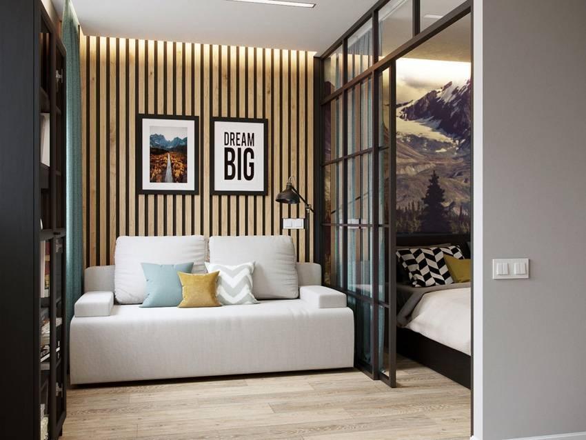 Дизайн обычной однокомнатной квартиры 38 кв м