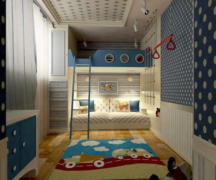 Дизайн узкой детской: 50 фото и 7 решений