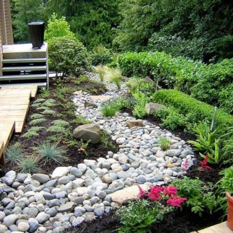 Искусственный ручей на даче: от планировки до оформления берегов