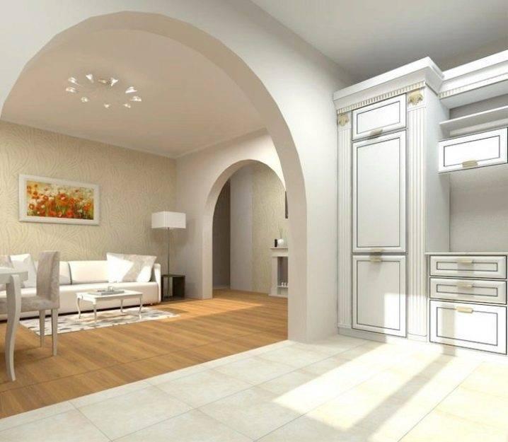 Арки между гостиной и кухней: необычные и редкие формы, декорирование, фото