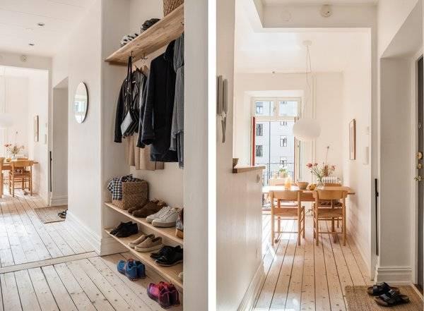Прихожая в скандинавском стиле - лучшие идеи, 50 фото красивых интерьеров