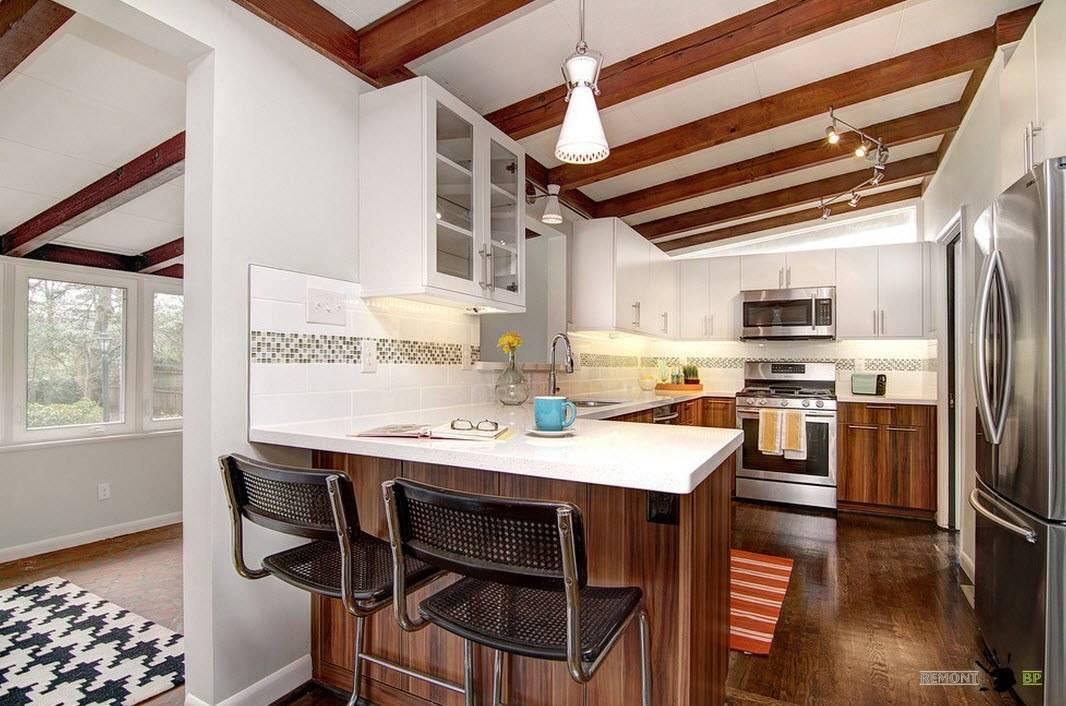 Дизайн кухни столовой гостиной в частном доме (56 фото): в современном интерьере