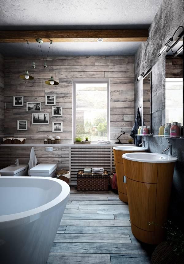 Ванная комната в стиле лофт: фото, идеи и секреты дизайна