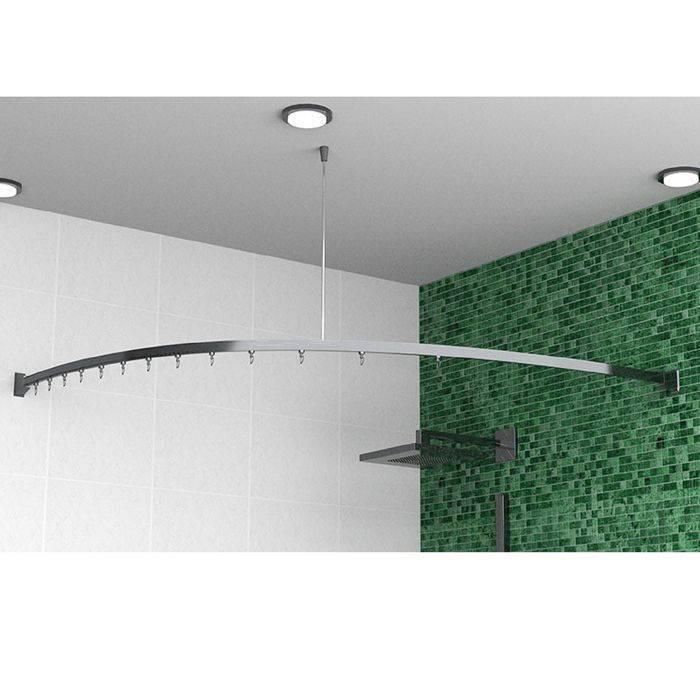 Карниз для ванной: правильный монтаж и советы по выбору места установки (115 фото)