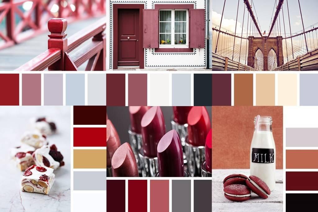 Сочно и стильно: варианты цветовых сочетаний бордового цвета с другими в жилых интерьерах