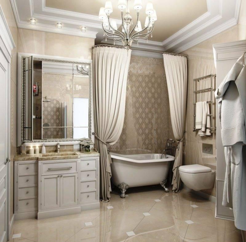 Красивые ванные комнаты в классическом стиле | 40+ фото