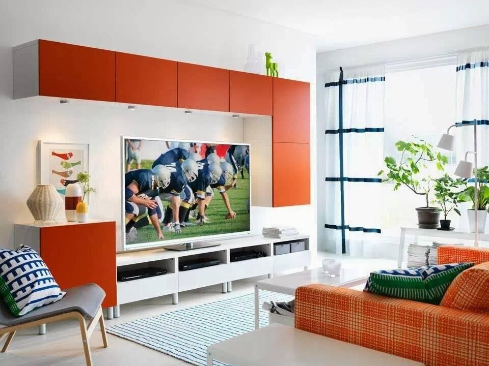 Стенки горки в гостиную в современном стиле