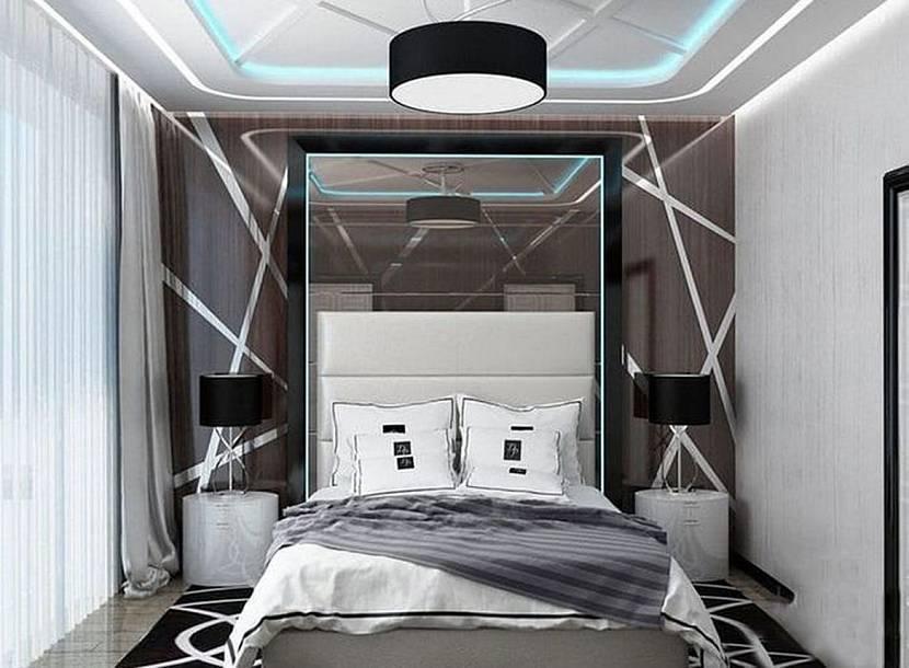 Дизайн узкой спальни (72 фото): реальные идеи интерьера комнаты в «хрущевке» площадью 2х4