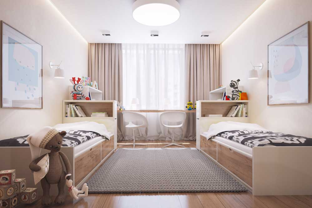 Детская 9 кв. м. - 100 фото зонирования и лучшие идеи дизайна интерьера детской комнаты