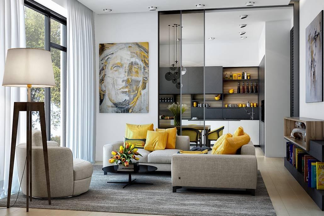 Дизайн однокомнатной квартиры 30 кв. м (69 фото): идеи для ремонта маленькой студии, проект 1-комнатной