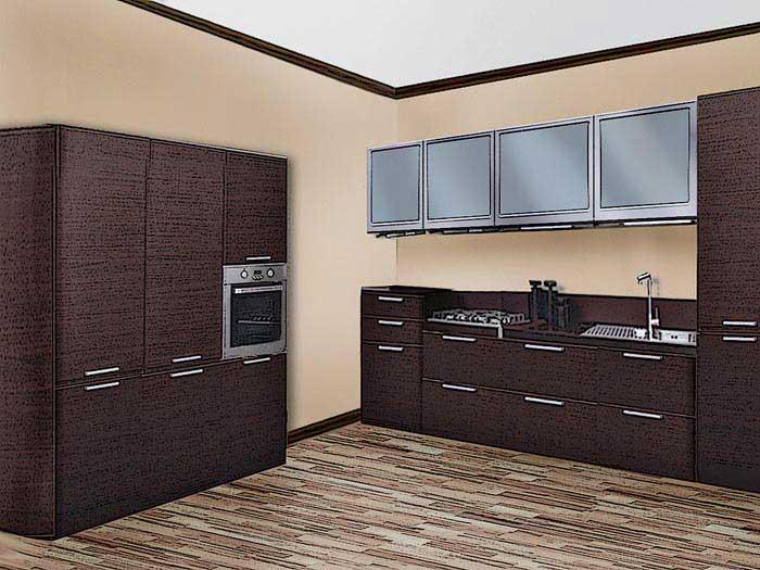 Кухня венге, дизайн, сочетание цветов (116 реальных фото)