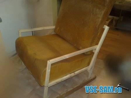 Кресло-качалка своими руками, из дерева, фанеры или профильных труб, чертежи и размеры, как сделать из металла в домашних условиях
