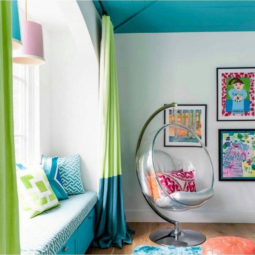 Цвет в интерьере детской комнаты, как выбрать цвет стен, стильные цветовые комбинации - 19 фото