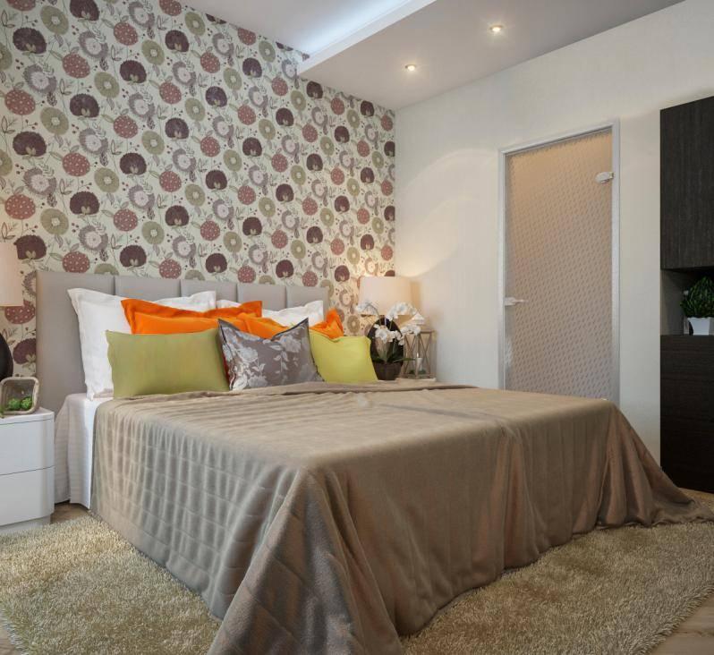 Дизайн комбинированных обоев для спальни, фото вариантов