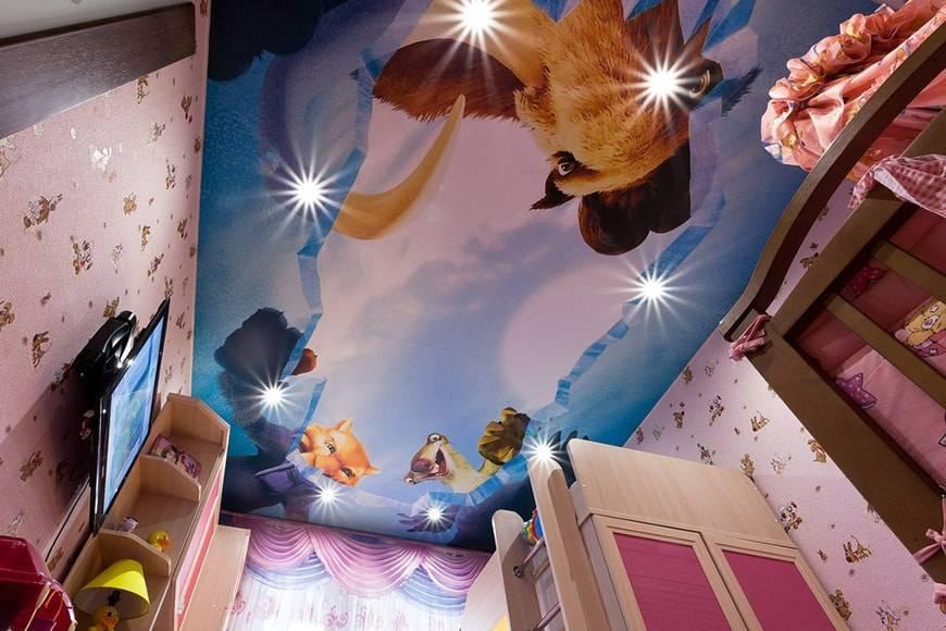 Гид по выбору натяжных потолков для детской комнаты в вопросах и ответах