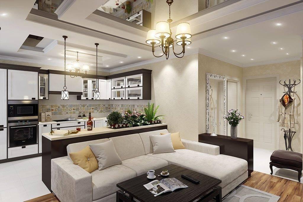Дизайн маленькой кухни-гостиной 16 кв. м: 30 фото