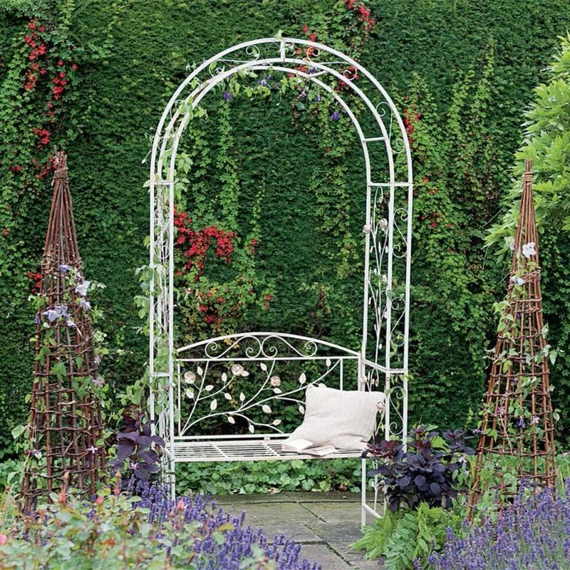 Арки для цветов - 110 фото красивых идей использования арок для вертикального озеленения