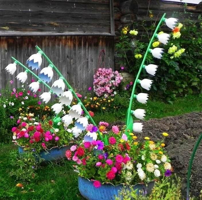 Как создать красивые цветники и клумбы на даче своими руками? (100 фото + видео)