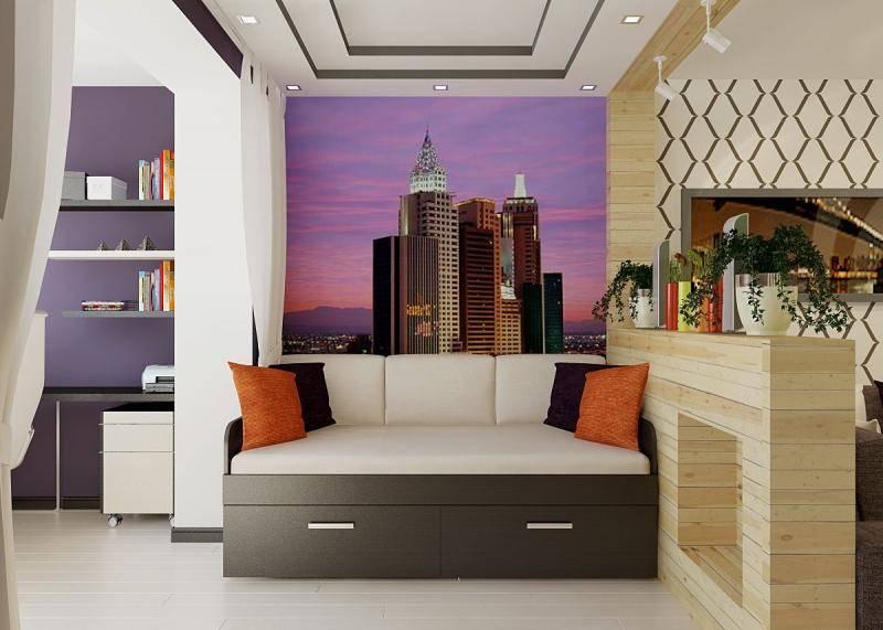 Зонирование комнаты (95 фото) - красивые идеи и варианты, способы разделения пространства