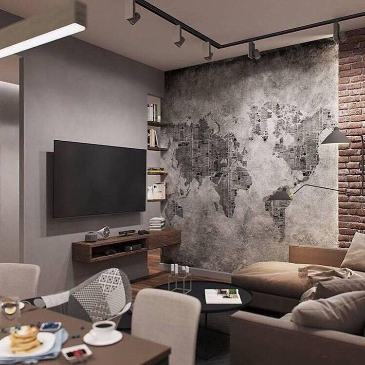 Гостиная (120 фото): дизайн зала в квартире в стиле «минимализм» и «модерн», красивые фрески в интерьере комнаты