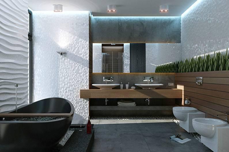 Ванная комната в стиле хай-тек – особенности стиля