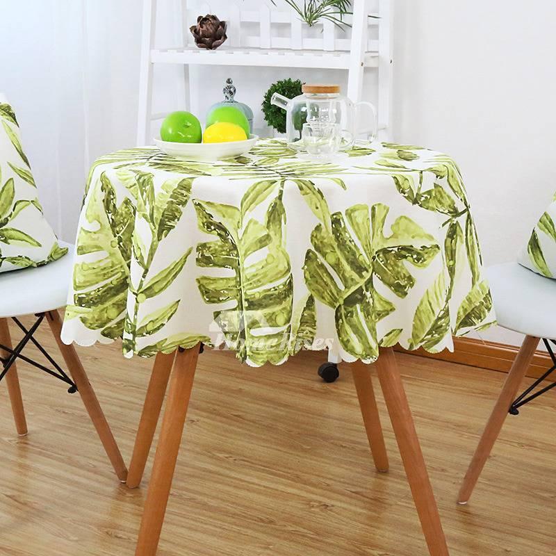 Разновидности скатертей на кухонный стол, подбор с учетом мероприятия