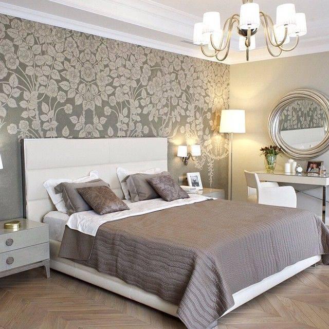 Спальня с обоями двух цветов: 210+[фото] лучшие идеи