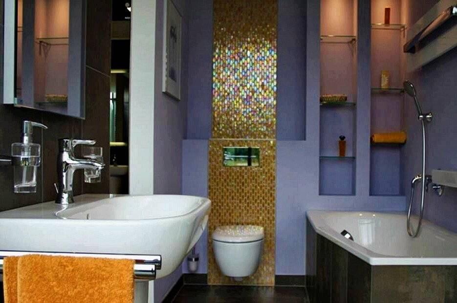 Феерический дизайн маленькой ванной комнаты