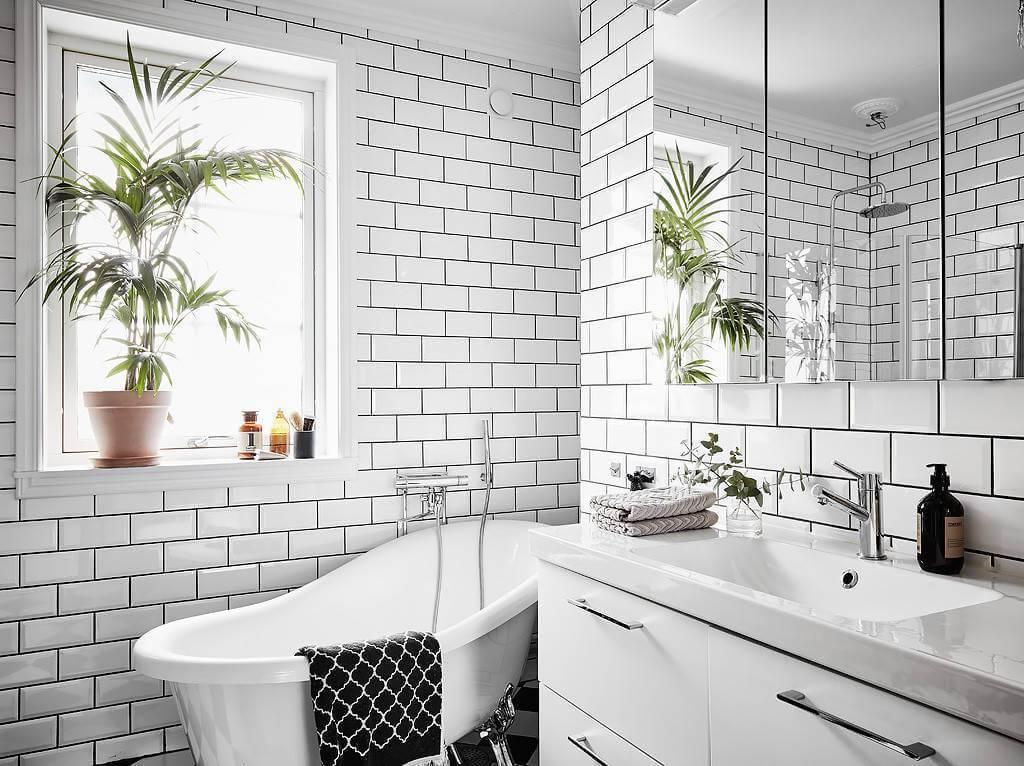 Ванная в скандинавском стиле: правила оформления и выбор сантехники