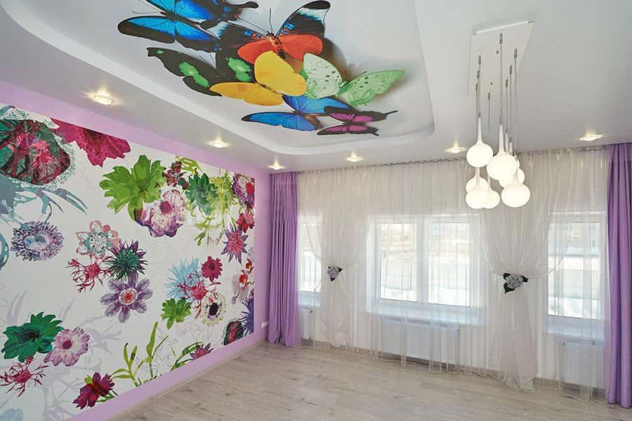 Натяжные двухуровневые потолки – эстетика и практичность