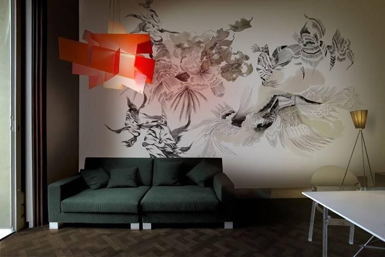 Роспись стен: различные техники и советы по оформлению интерьера