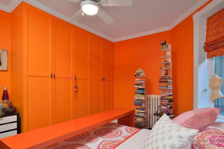 Дизайн спальни в оранжевых тонах: особенности оформления, сочетания, фото