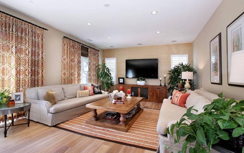 Обои для зала в квартире: разновидности, выбор и варианты в интерьере