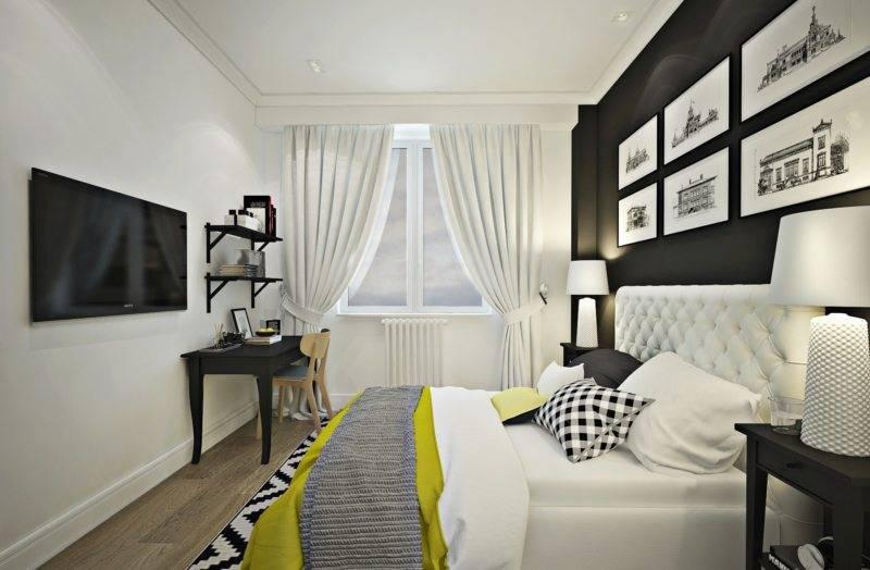 Черно-белая спальня: варианты сочетания интерьера. 125 фото новинок дизайна спальни в черно-белых тонах
