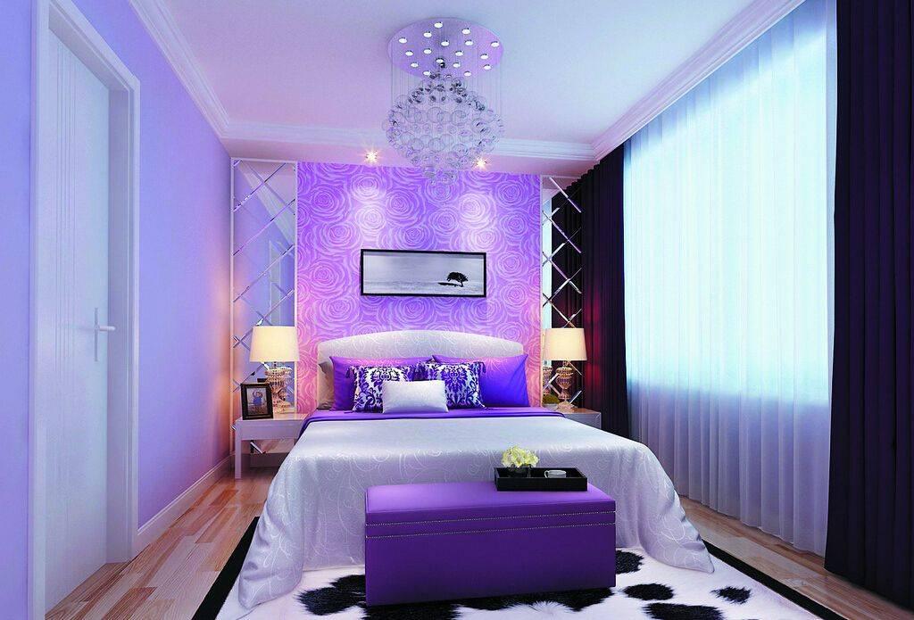Спальня в сиреневых тонах: 20 фотоидей дизайна сиреневой спальни