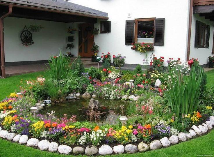 Цветники на даче - 110 фото идей по оформлению цветника своими руками