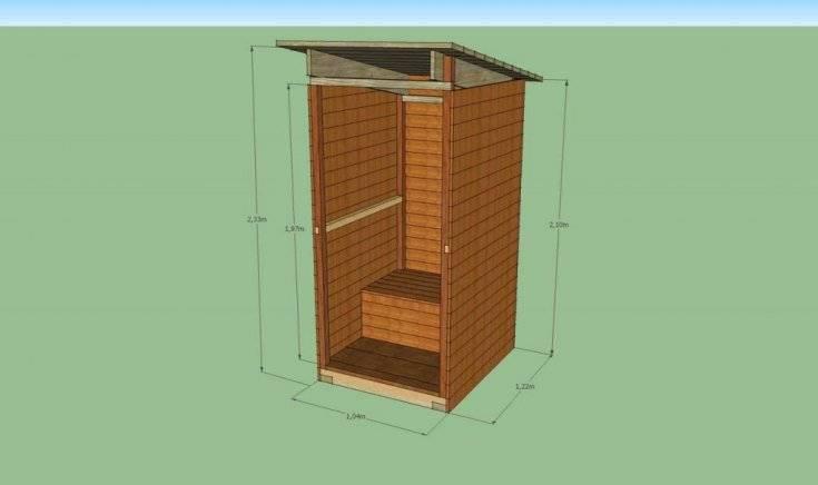 Дачный туалет – самый простой вариант сооружения конструкции