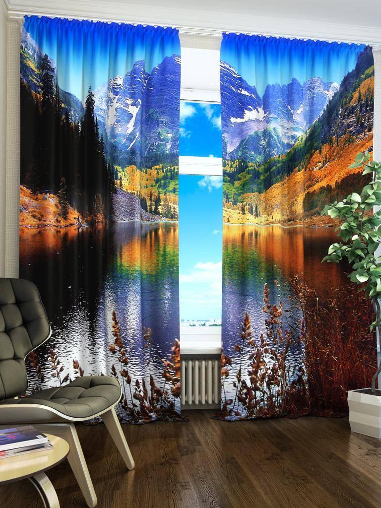 Дизайн штор с фотопечатью