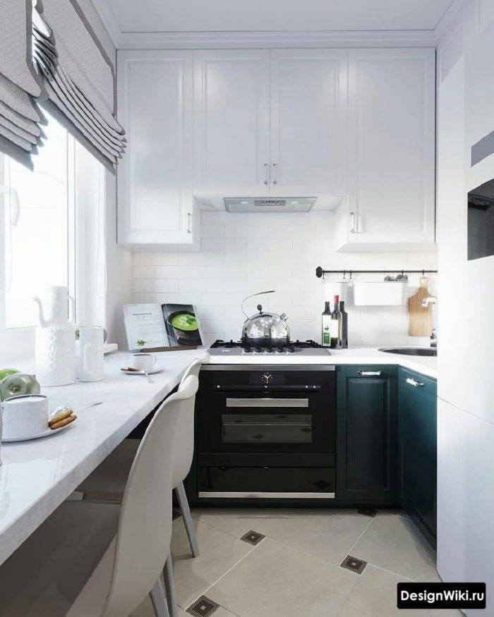 Секреты удачного дизайна для маленькой кухни площадью 6 кв. м.