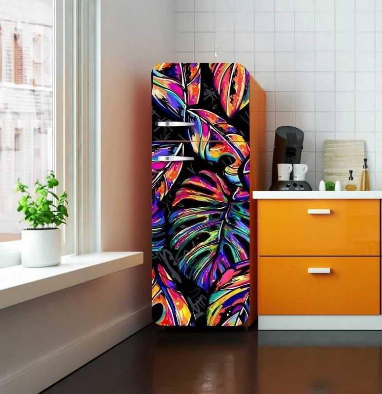 Какой нужен лак для декупажа холодильника. креативный холодильник в технике декупаж. как ухаживать за оклеенным холодильником