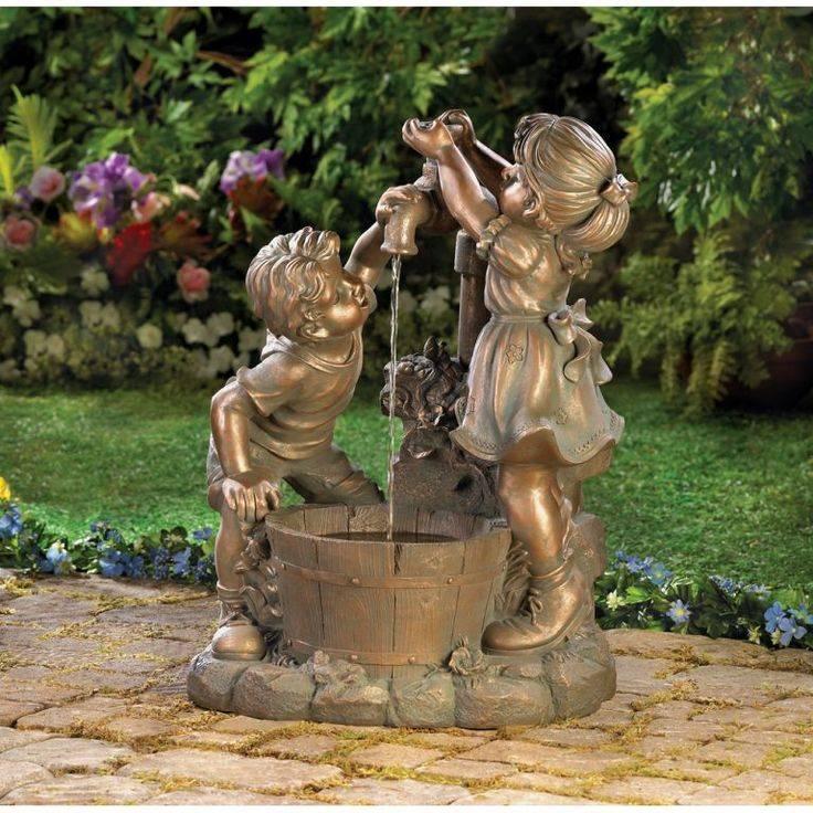 Садовые скульптуры (66 фото): парковая конструкция своими руками из бетона и дерева, мастер-класс изделий из гипса и полистоуна