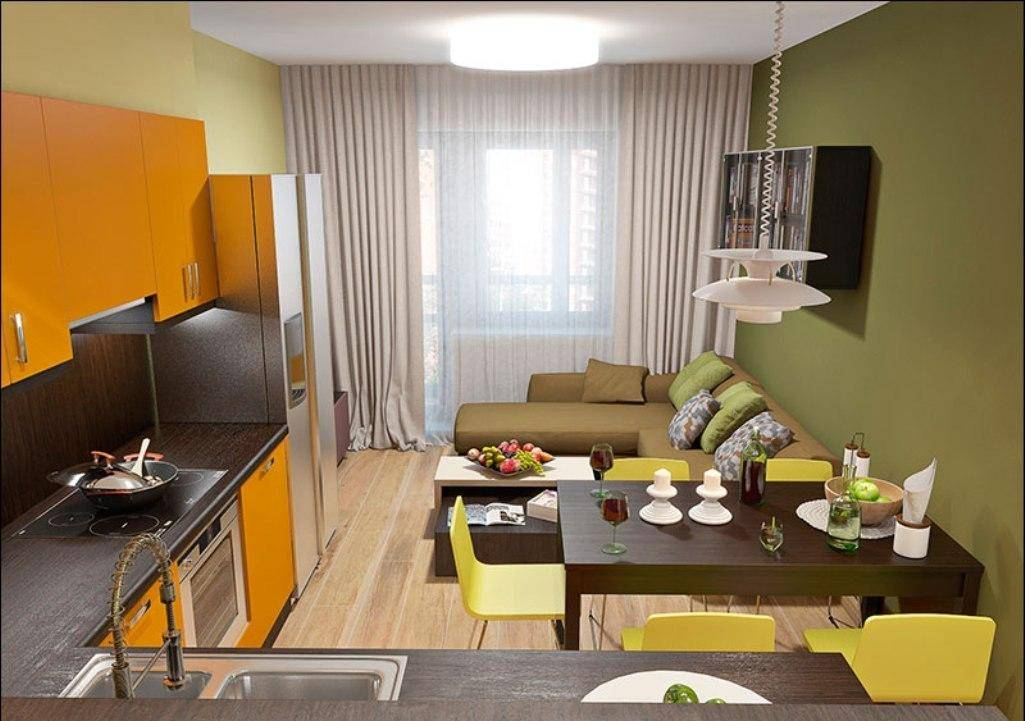 Дизайн кухни 9 кв м с диваном: особенности оформления и подбор мебели