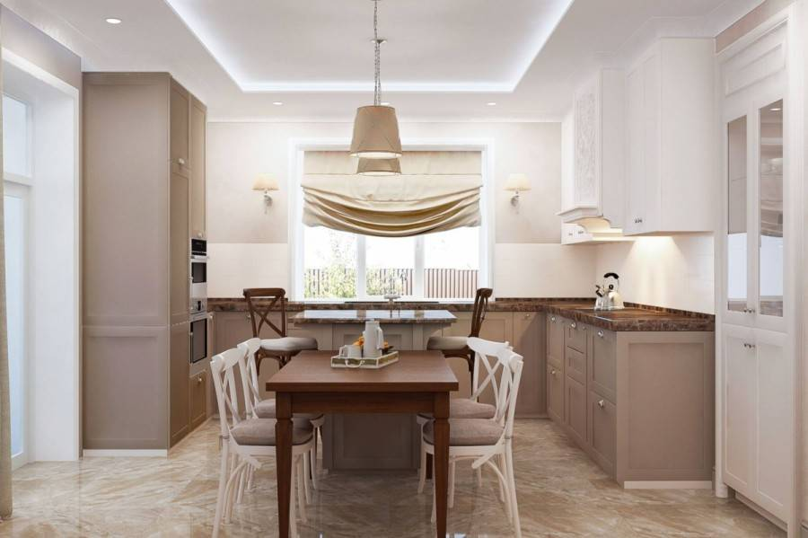 Дизайн кухни в загородном доме — как оформить, фото