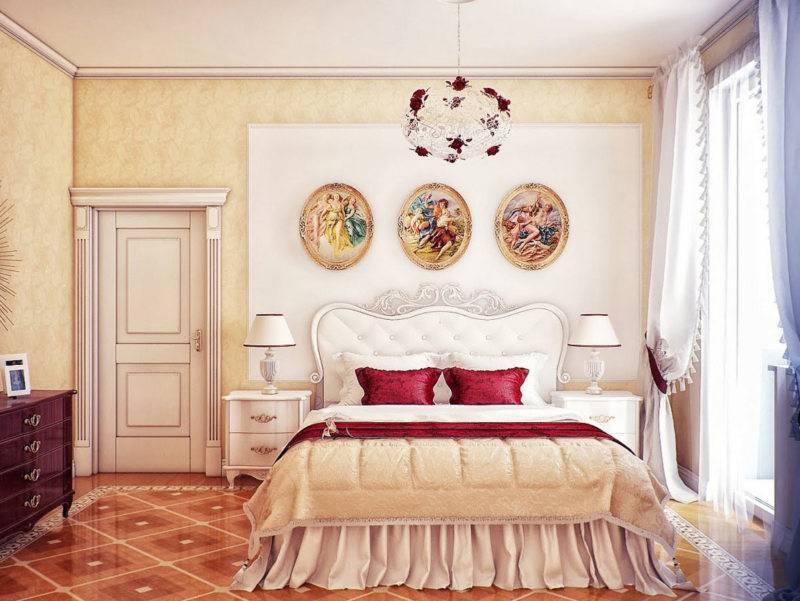 Картины для спальни: формы, мотивы и удачные варианты размещения