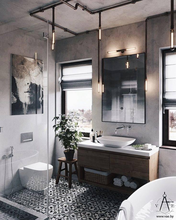 Ванные лофт — особенности дизайна и интересные идеи создания уникального стиля (120 фото)