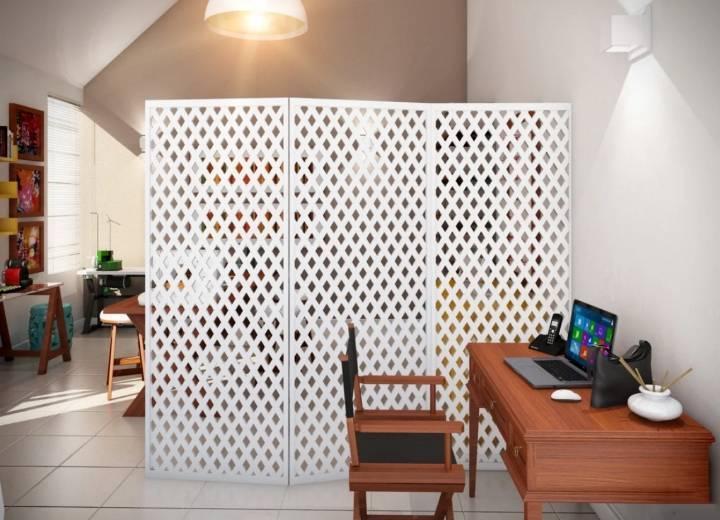 Особенности зонирования комнаты с помощью оригинальных декоративных перегородок