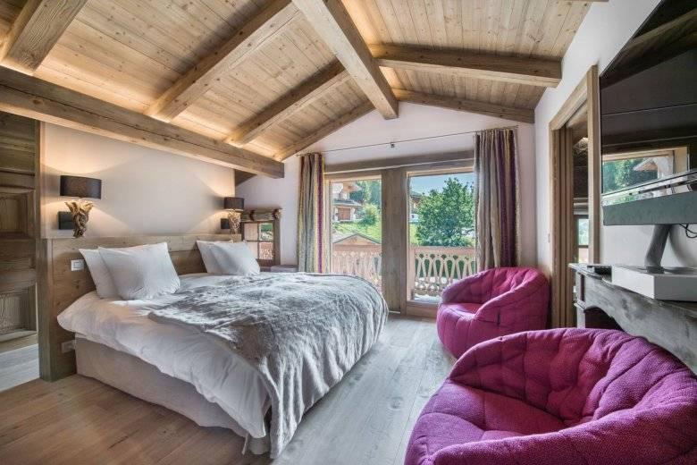 Спальня в стиле шале: дизайн интерьера на фото и видео