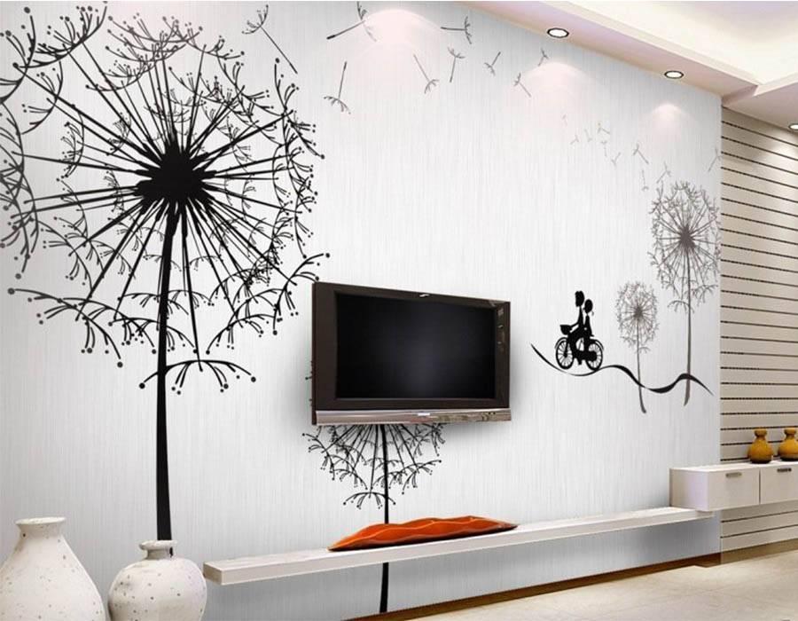 (+86 фото) 3d рисунки на стенах в квартире: разновидности и правила создания