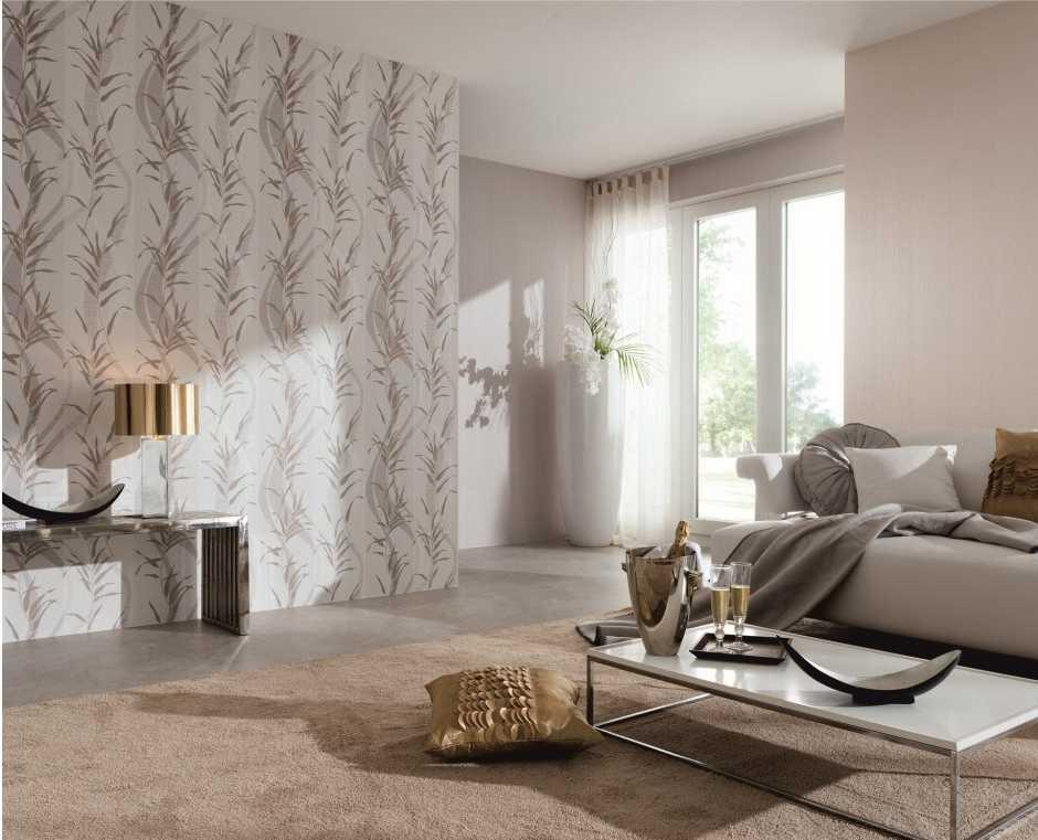 Комбинированные обои в гостиную: фото, правила сочетания, варианты дизайна