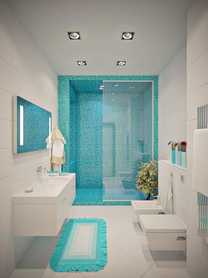 Дизайн бирюзовой ванной комнаты — идеи оформления интерьера